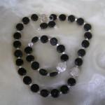 Peridot, Onyx, 925 Sterlingsilber