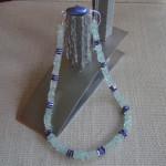 Art.-Nr. 509 Aquamarin- und LapisLazuli-Scheiben 6mm, vers. Kupferscheiben, Acrylmagnetverschluss, 65,00€