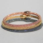 Art.-Nr. CA- B1050 Silberarmband -Kugel- 4 mm, in silber, rosé vergoldet, rhodiniert, vergoldet, geschwärzt ca. 19 cm -Magnetverschluss-, ab65,00€