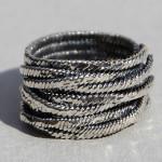 Art.-Nr. Ca- R1456S, Silberring geschwärzt -Jungle- 15mm, 69,90€