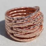 Art.-Nr. Ca- R1456R, Silberring rosé vergoldet -Jungle-15mm, auch in Gr. 62! 104,00€