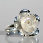 Art.-Nr. Ca- R1212P Silberring Rose, 17mm, 29,50€