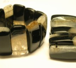 Armband auf doppeltem Schmuckgummiband, Geodenachat Stäbchen ca. 16x45mm, 23,50€€