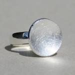 Art.-Nr. Ca- R1171A, Silberring Schale klein (16mm), 59,90€, auch vergoldet und in 30mm Ø in silber, vergoldet+rosé vergoldet erhältlich