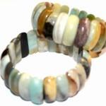 Armband auf doppeltem Schmuckgummiband, Andenopal, 19,00€