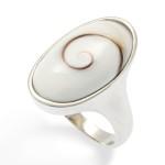 Art.-Nr. DUR-R4456 Ovaler Meeresaugen-Ring in rhodiniertem, 925er Sterling-Silber gefasst, Höhe: 2,3cm, Breite: 1,5cm, 79,90€