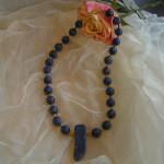 Art.-Nr. 616 Lapis Lazuli, Kugeln Ø 12mm, Hämatitwalzen, Karabinerverschluss aus vergoldetem 925 Sterling Silber, 89,00€