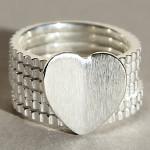 Art.-Nr. Ca-R1474P Silberring | Heartpower, 11mm, 59,00€