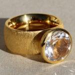 Art.-Nr. Ca-RS1556B Silberring vergoldet mit Bergkristall | Button Ø12mm, reduziert!165,00€