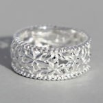 Art.-Nr. Ca- R1550P Silberring | Blumenband, 9mm, 39,90€