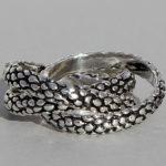 Art.-Nr. Ca- R1554S Silberring geschwärzt | 3-fach Ring, 7mm, reduziert! 33,50€