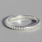 Art.-Nr. Ca- R1555P Silberring | Noppen schmal, 2,5mm, 26,90€