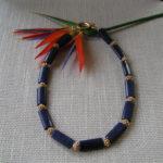 "Art.-Nr. 772 Lapis Lazuli 24x12mm, vergoldete ""Kupferigel"", ital. Designerverschluss aus verg. Kupfer, 64,90€"