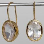 Art.-Nr. Ca- ES1201B Silberohrhänger vergoldet mit Bergkristall, ca. 14x10 mm fac.Bergkristall, 125,00€