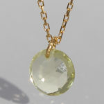 Art.-Nr. Ca-CS1281L Collier vergoldetmit Lemonquarz40 cm; 8 mm fac. Lemonquarz, 49,90€