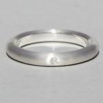Art.-Nr. Ca-RS1603B Silberring mit Bergkristall | strack plain, Ø2mm fac, 49,90€