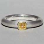 Art.-Nr. Ca-RS1601C Silberring teilvergoldet mit Citrin | Strack smal, 3x3mm fac, 72,50€