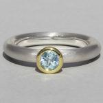 Art.-Nr. Ca-RS1602T Silberring teilvergoldet mit Topas | Strack round, Ø5mm fac, 79,90€