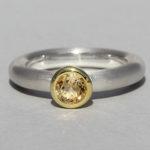 Art.-Nr. Ca-RS1602C Silberring teilvergoldet mit Citrin | Strack round, Ø5mm fac, 79,90€
