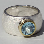 Art.-Nr. Ca- RS1627T Silberring teilvergoldet mit Topas | Golan rund, Ø8mm, 139,00€