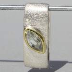 Art.-Nr. Ca-AS1607G Silberanhänger teilvergoldet mit Prasiolith | Mathilda, 10x5 mm fac. Prasiolith, 74,90€