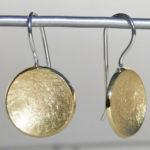 Art.-Nr. Ca- E1171E Silberohrhänger Schale klein | vergoldet 15 mm, 72,00€