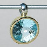 Art.-Nr. Ca- AS1302T Silberanhänger vergoldet mit 13 mm fac.Topas Swirlschliff, 329,00€