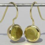 """Art.-Nr. Ca-ES1385L Silberohrhänger """"Bubble"""" vergoldet mit Lemonquarz Durchmesser Stein: 8 mm, 119,00€"""