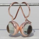 """Art.-Nr. Ca-ES1385G Silberohrhänger """"Bubble"""" vergoldet mit Prasiolith Durchmesser Stein: 8 mm, 119,00€"""