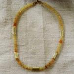 Art.-Nr. 1075 Opal quadratische Scheiben 4-5mm gelblich Äthiopien, Zwischenteile und Magnetverschluss aus vergoldetem 925 Sterling Silber, 149,00€